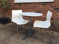 White ikea table and chairs