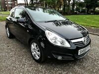 2008 VAUXHALL CORSA DESIGN 1.4 16V A/C..NEW FULL MOT 2018..F S H..NEW OIL+FILTER.BLACK.3D..91k..VGC.