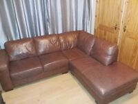 Large Brown Leather Sofa *Reduced*