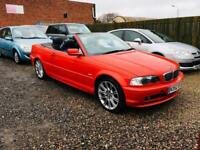 Bmw 318 2.0 convertible 52 reg full heated leather lovely car px welcome