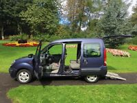 top of the range Renault kangoo crew van with disabled access. also ideal for dogs. work. leisure