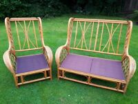 Pair of Garden or Conservatory Chairs but no cushions