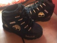 Infant size 9 black timbs