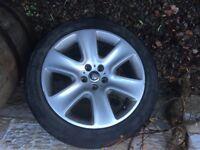 Jaguar XF Genuine 18 inch 6 spoke Wheels with Winter Tyres set of 4 245/45r18