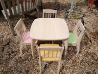 John Lewis rubberwood table and chairs