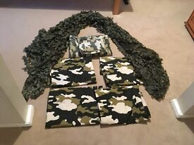 Army Camouflage bedding and curtains.