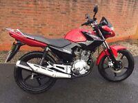 YAMAHA YBR125 - 1430 miles - 1 year warranty remaining - great bike, great condition