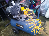 Workzone 3HP 50litre compressor. with tools.