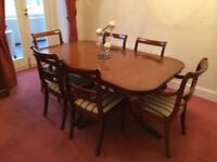 Dining table and chairs (seats 6 or 8) with Sideboard