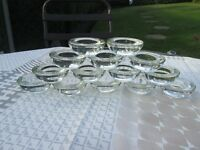 Wedding Decorations. Glass tea light holders