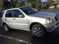 Mercedes ML 270 cdi inspiration ; 2004, 53 reg, diesel, automatic, 136K miles, leather seats