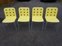 4 Ikea Jules Stacking Office / Kitchen Chairs FREE DELIVERY 749