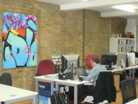 Desks available now in shared workspace in Shoreditch