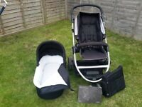 Mamas & Papas Zoom - Combi Pushchair and Carry Cot with lots of extras