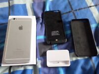 iPhone 6 Plus Silver & White 64gb, Unlocked.