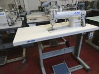 NEW JUKI DDL 8100E INDUSTRIAL SEWING MACHINE COMPLETE WITH STAND & SILENT ELECTRIC SERVO MOTOR