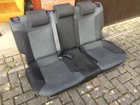 Used Genuine VW polo 2009-2015 rear seats black & light grey