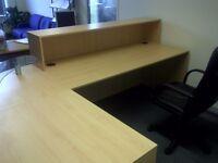 Reception Desk in Beech