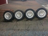 wolfrace alloy wheels with winter tyres 215/65r/16c