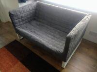 Sofa 2 seat grey Ikea KNOPPARP