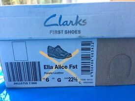 Girl shoes UK size 6G - home used once only-in box-£10