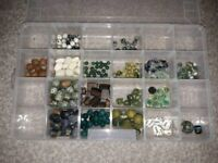 Box of beads for jewellery making