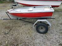 Dinghy with trailer