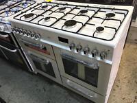 New Graded Bush 100cm Duel Fuel Range Cooker - White