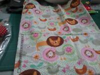 Fabric pastel brushed cotton animal print 57cm× 47cm