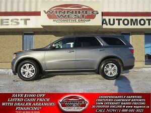 2013 Dodge Durango Grey SXT 4x4, Loaded, 7 Pass, Rear Heat/AC, L