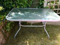 FREE Glass top garden table