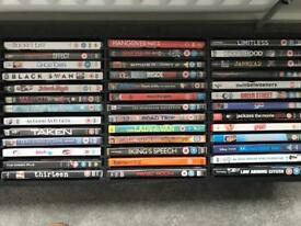 90 DVDS and storages boxes