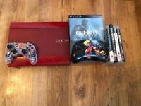 PS3 500gb red