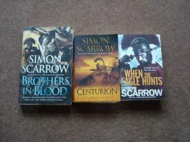 3 Simon Scarrow paperbacks.