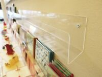 Clear Acrylic Card Shelf Fixing Display Rack for Retail Shop Shelving - 28 units available