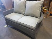 Hartman Appletone stone slate weave sofa