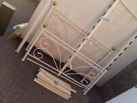 Julian bowen cadiz kingsize bed frame in cream with memory foam topped cooltech matress