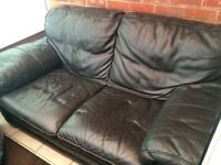 Genuine real leather sofa