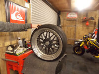 daytona deep dish wheels. 5 x 100 staggered.