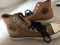 Converse all star brown leather size 7