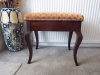Vintage Classic solo piano stool, fixed height, hinged, good music storage, bargain, £35