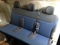Rear bench seat for van