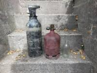 Two-mini Oxygen & Acetylene Bottles
