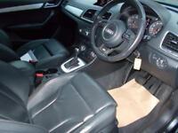 AUDI Q3 2.0 TDI QUATTRO S LINE 5d AUTO 175 BHP (grey) 2013