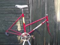 Vintage Peugeot Rapide Ladies Racing Bike Frame And Components