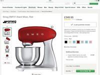 BRAND NEW Smeg Kitchen Mixer in Red