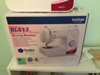 BROTHER SEWING MACHINE like new boxed