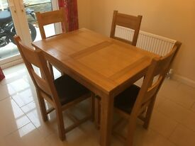Ash Dinning table and chairs