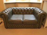 Quality leather Chesterfield sofa