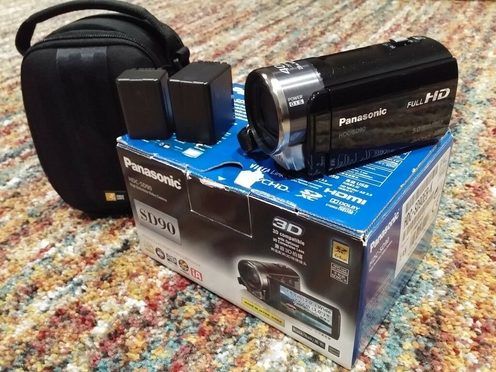 PANASONIC HDC SD90 HIGH DEFINITION CAMCORDER BLACK